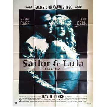 SAILOR ET LULA Affiche de film 120x160 cm - 1990 - David Lynch, Wild at Heart