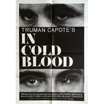 IN COLD BLOOD Movie Poster 27x40 in. - 1967 - Richard Brooks, Robert Blake