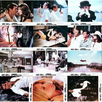 THE MAN WITH GOLDEN GUN Lobby Cards 9x12 in. - x12 1977 - James Bond, Roger Moore