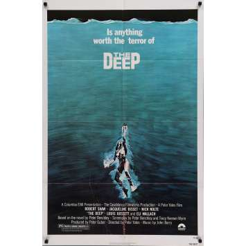 THE DEEP Movie Poster 27x40 in. - 1977 - Peter Yates, Jaqueline Bisset
