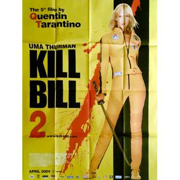 KILL BILL 2 Affiche de film 120x160 cm - 2004 - Uma Thurman, Quentin Tarantino