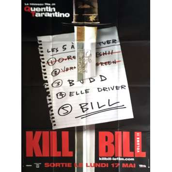 KILL BILL 2 Affiche de film 120x160 cm - Prev. 2004 - Uma Thurman, Quentin Tarantino