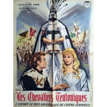 LES CHEVALIERS TEUTONIQUES Affiche de film 60x80 cm - 1960 - Urszula Modrzynska, Aleksander Ford