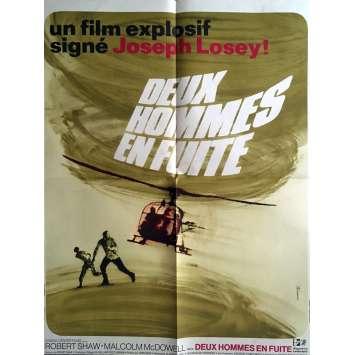 DEUX HOMMES EN FUITE Affiche de film 60x80 cm - 1970 - Robert Shaw, Joseph Losey
