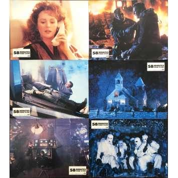 58 MINUTES POUR VIVRE Photos de film 21x30 cm - x6 1990 - Bruce Willis, Renny Harlin