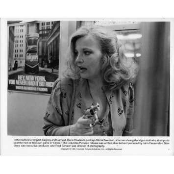 GLORIA Photo de presse 20x25 cm - 1980 - Gena Rowlands, John Cassavetes