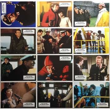 NORTH SEA HIJACK Lobby Cards 9x12 in. - x12 1980 - Andrew V. McLaglen, Roger Moore