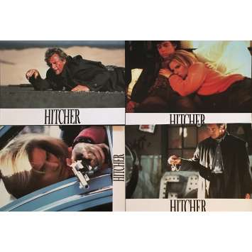 THE HITCHER Lobby Cards 9x12 in. - x4 1986 - Robert harmon, Rutger Hauer