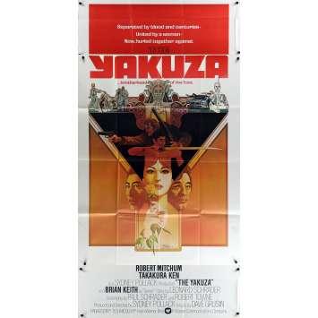 YAKUZA Affiche de Film 104x206 3sh Style B - 1975 - Robert Mitchum, Paul Shrader