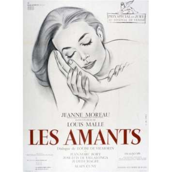 LOVERS French Movie Poster 47x63 '58 Jeanne Moreau, Louis Malle