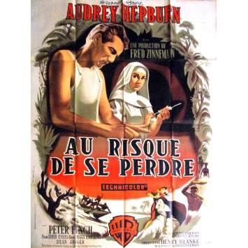 AU RISQUE DE SE PERDRE Affiche de film 120x160 '59 Audrey Hepburn