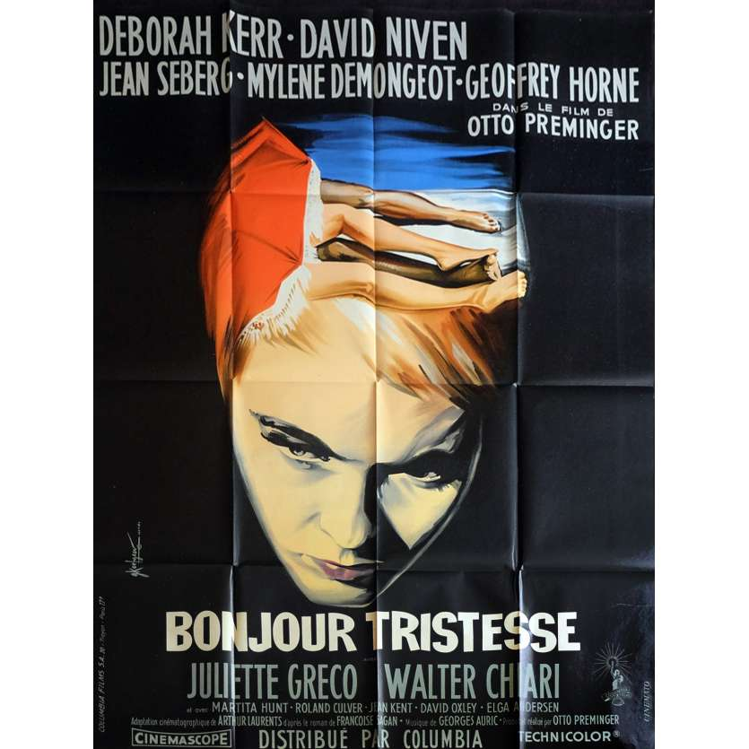 BONJOUR TRISTESSE French Movie Poster 47x63 - 1957 - Otto Preminger, Deborah Kerr