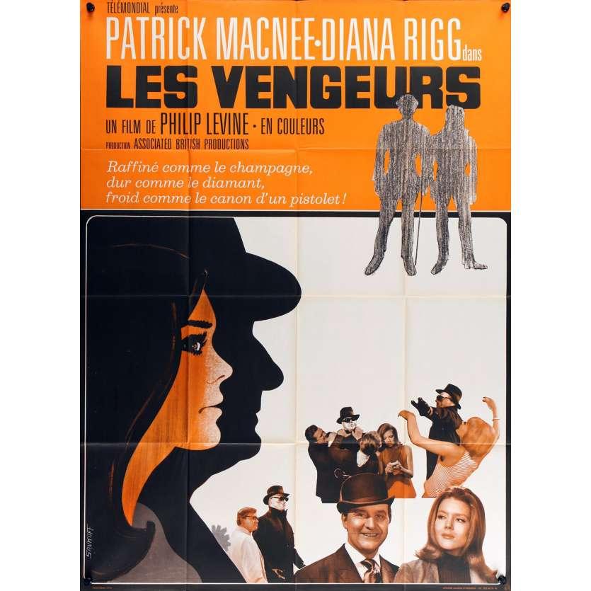 CHAPEAU MELON ET BOTTES DE CUIR Affiche de film 120x160 - 1968 - Patrick McNee, Diana Rigg