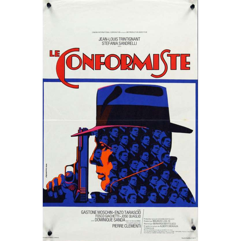 CONFORMIST French 15x21 '71 Bernardo Bertolucci's Il Conformista, Trintignant, Iaia art!