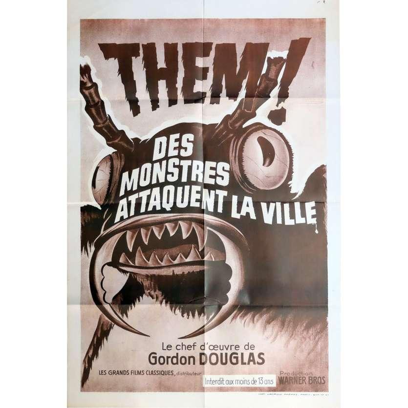 DES MONSTRES ATTAQUENT LA VILLE Affiche de film 120x160 - R1970 - James Whitmore, Gordon Douglas