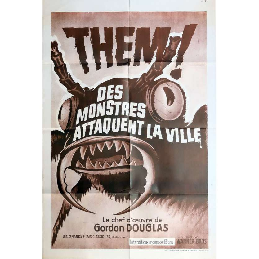 THEM French Movie Poster 47x63 - R1970 - Gordon Douglas, James Whitmore