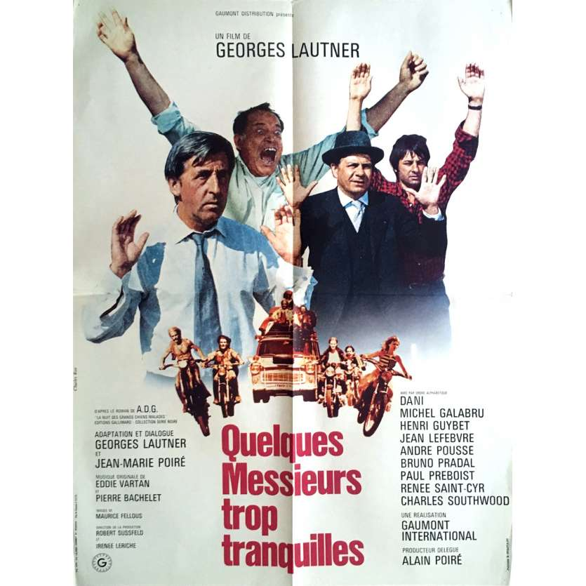 SOME TOO QUIET GENTLEMEN French Movie Poster 23x32 - 1973 - George Lautner, Michel galabru