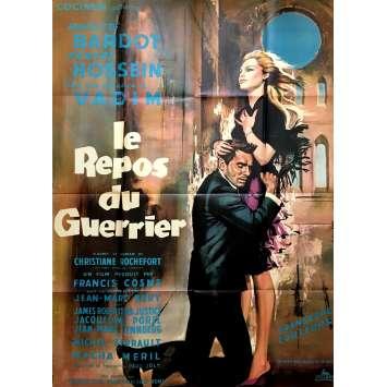 LE REPOS DU GUERRIER Affiche de film 120x160 cm - 1962 - Brigitte Bardot, Roger Vadim