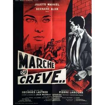 WALK OR DIE Movie Poster 23x32 in. - 1960 - Georges Lautner, Bernard Blier