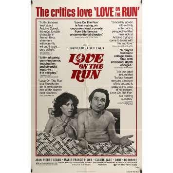 LOVE ON THE RUN Movie Poster 27x40 in. - 1979 - François Truffaut, Jean-Pierre Léaud
