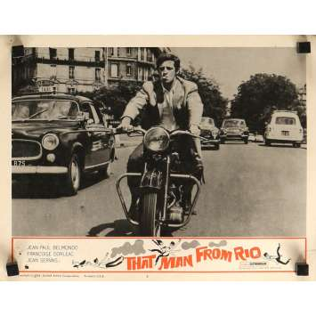 THE MAN FROM RIO Lobby Card 11x14 in. - N08 1964 - Philippe de Broca, Jean-Paul Belmondo