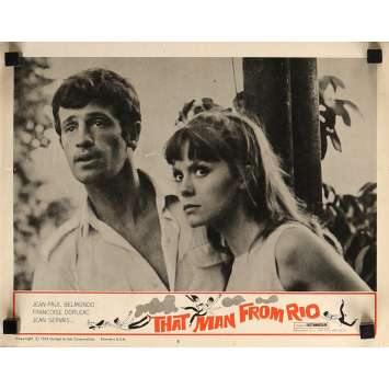 THE MAN FROM RIO Lobby Card 11x14 in. - N07 1964 - Philippe de Broca, Jean-Paul Belmondo