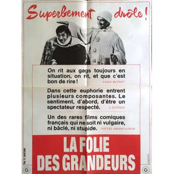DELUSIONS OF GRANDEUR Movie Poster 23x32 in. - Review 1971 - Gérard Oury, Louis de Funes
