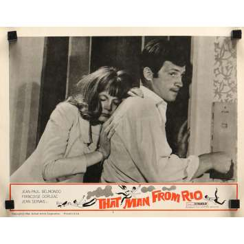 THE MAN FROM RIO Lobby Card 11x14 in. - N06 1964 - Philippe de Broca, Jean-Paul Belmondo