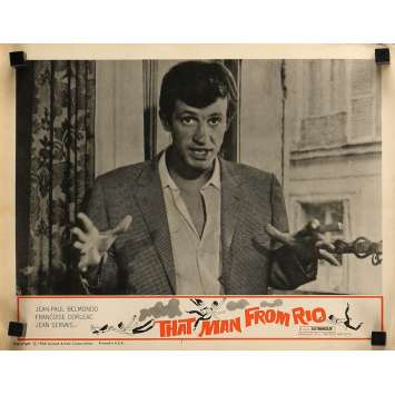 THE MAN FROM RIO Lobby Card 11x14 in. - N05 1964 - Philippe de Broca, Jean-Paul Belmondo