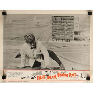THE MAN FROM RIO Lobby Card 11x14 in. - N03 1964 - Philippe de Broca, Jean-Paul Belmondo