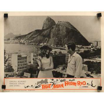 THE MAN FROM RIO Lobby Card 11x14 in. - N02 1964 - Philippe de Broca, Jean-Paul Belmondo