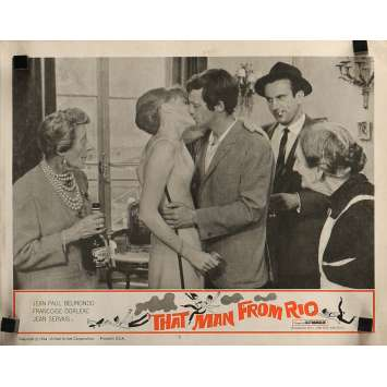 THE MAN FROM RIO Lobby Card 11x14 in. - N01 1964 - Philippe de Broca, Jean-Paul Belmondo