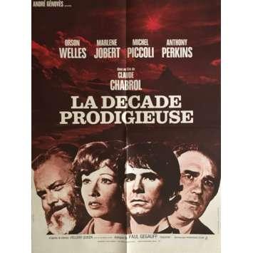 LA DECADE PRODIGIEUSE Affiche de film 60x80 cm - 1971 - Anthony Perkins, Claude Chabrol