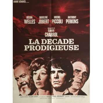 TEN DAYS WONDER Movie Poster 23x32 in. - 1971 - Claude Chabrol, Anthony Perkins