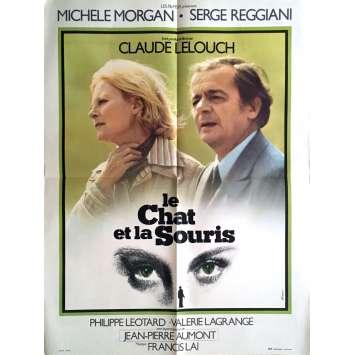 LE CHAT ET LA SOURIS Affiche de film 60x80 cm - 1975 - Michèle Morgan, Claude Lelouch