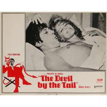 THE DEVIL BY THE TAIL Lobby Card 11x14 in. - N08 1969 - Philippe de Broca, Yves Montand