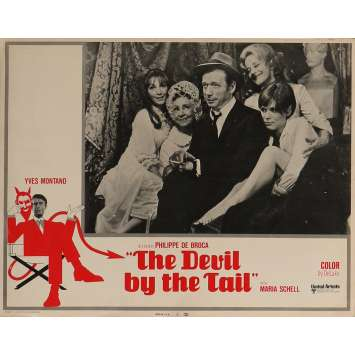 THE DEVIL BY THE TAIL Lobby Card 11x14 in. - N07 1969 - Philippe de Broca, Yves Montand