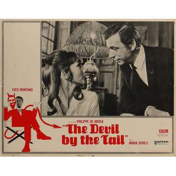 THE DEVIL BY THE TAIL Lobby Card 11x14 in. - N05 1969 - Philippe de Broca, Yves Montand