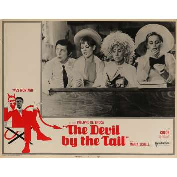 THE DEVIL BY THE TAIL Lobby Card 11x14 in. - N04 1969 - Philippe de Broca, Yves Montand