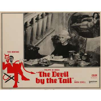 THE DEVIL BY THE TAIL Lobby Card 11x14 in. - N02 1969 - Philippe de Broca, Yves Montand