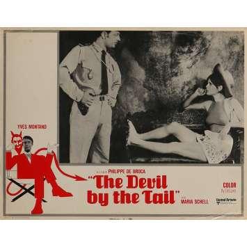 LE DIABLE PAR LA QUEUE Photo de film 28x36 cm - N01 1969 - Yves Montand, Philippe de Broca