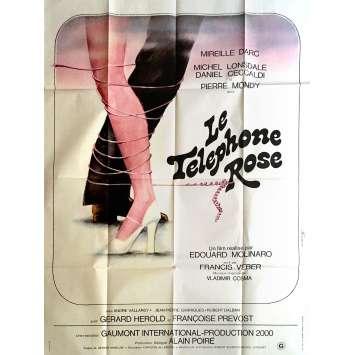 LE TELEPHONE ROSE Affiche de film 120x160 cm - 1975 - Mireille Darc, Edouard Molinaro