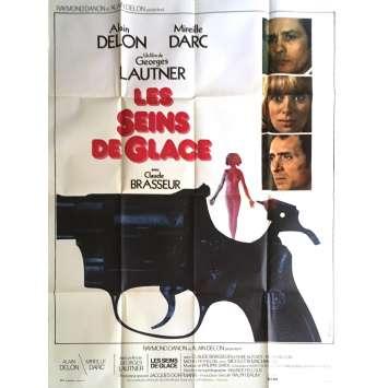 LES SEINS DE GLACE Affiche de film 120x160 cm - 1974 - Alain Delon, Georges Lautner