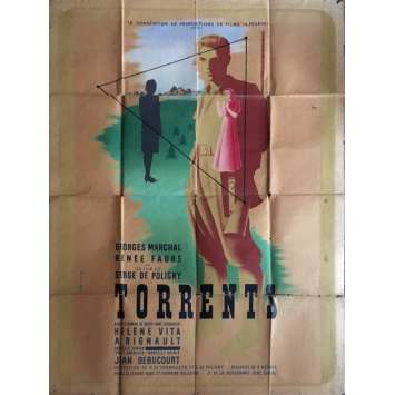 TORRENTS Movie Poster 47x63 in. - 1947 - Serge de Poligny, Georges Marchal