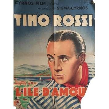 L'ILE D'AMOUR Affiche de film 60x80 cm - 1944 - Tino Rossi, Maurice Cam