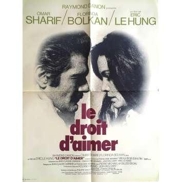 LE DROIT D'AIMER Affiche de film 60x80 cm - 1972 - Omar Sharif, Eric le Hung