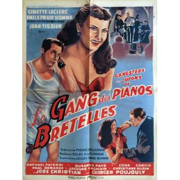 LE GANG DES PIANOS A BRETELLES Affiche de film 60x80 cm - 1953 - Ginette Leclerc, Gilles de Turenne