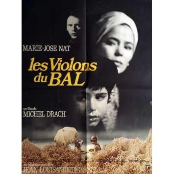 LES VIOLONS DU BAL Affiche de film 60x80 cm - 1974 - Jean-Louis Trintignant, Michel Drach