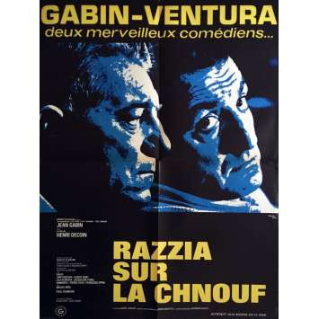 RAZZIA Movie Poster 23x32 in. French - R1970 - Henri Decoin, Jean Gabin