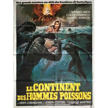 SOMETHING WAITS IN THE DARK Movie Poster 47x63 in. - 1979 - Sergio Martino, Barbara Bach